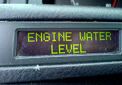 Engine water level